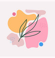 abstract with floral twig with leaves vector image