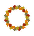 autumn leaves wreath frame vector image