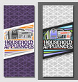 banners for household appliances vector image vector image