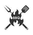bbq template vector image