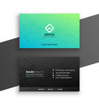 black and turquoise color business card design vector image vector image