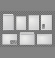 blank white paper c4 envelope set vector image