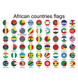 buttons with flags of Africa vector image vector image