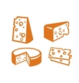 cheeses icon vector image vector image
