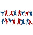 children karate sparring vector image