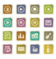 childrens toys icons set vector image