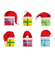 Christmas Gifts Icons Collection vector image