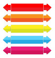 colorful paper labels with arrows vector image vector image
