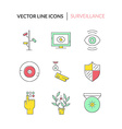 Colorful Surveillance icons vector image