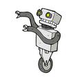 comic cartoon funny robot vector image