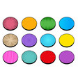 comic circles bright collection vector image