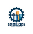construction logo design concept vector image