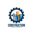 construction logo design concept vector image vector image