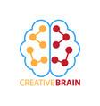 creative brain logo vector image vector image