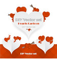 creative valentines day card template vector image vector image