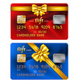 Credit card gift vector image vector image