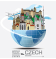 Czech Landmark Global Travel And Journey vector image vector image