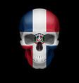 dominican republic flag skull vector image vector image