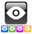 eye icons eye symbols on glossy rounded squares vector image vector image