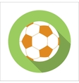 Football flat icon vector image vector image