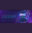 futuristic banner ai and vr technologies self vector image vector image