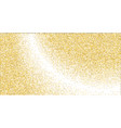 golden small confetti on white background vector image