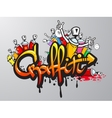 graffiti characters print vector image