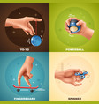hand game design concept vector image vector image