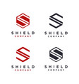 hexagon letter s for shield logo icon template vector image vector image