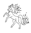 horse without color vector image