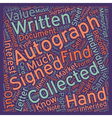 How Do You Know What an Autographed is Worth text vector image vector image