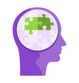 human head with puzzles metaphor reason vector image vector image