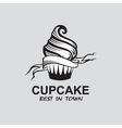 image of cupcake vector image vector image