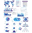 INFOGRAPHIC WEB COLLECTION PURPLE vector image vector image