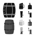 isolated object brewery and brewing symbol set vector image