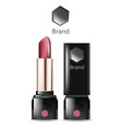lipstick realistic beauty template product vector image vector image
