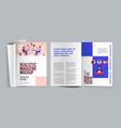 magazine mockup realistic design concept vector image vector image