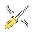 mascara brush and false eyelashes color icon vector image vector image