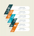 Modern step options banner vector image vector image