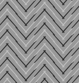 Monochrome pattern with gray and black chevron vector image vector image
