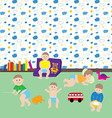 Movements of kids vector image
