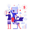 multitasking concept businesswoman solving urgent vector image