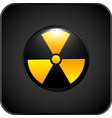 nuclear danger icon volumetric with glare on the vector image