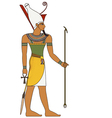 Pharaoh egyptian ancient symbol isolated figure vector image vector image