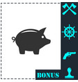 pig icon flat vector image vector image