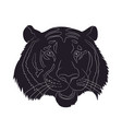 portrait tiger drawing silhouette vector image