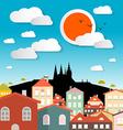 Prague City - Czech Republic in Europe vector image