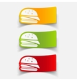 realistic design element sandwich vector image vector image
