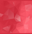 red geometric rumpled triangular low poly origami vector image vector image