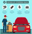 repair of steering rack battery fuse box relay vector image vector image